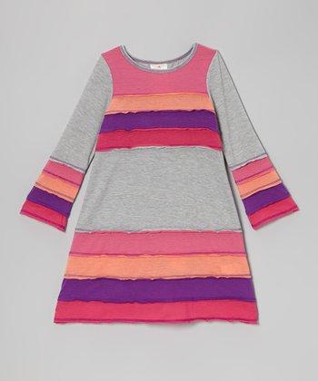 Gray Horizon Dress - Toddler & Girls