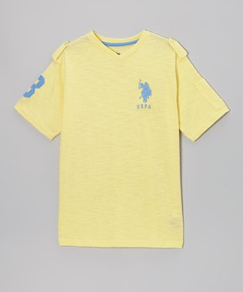 Yellow V-Neck Tee - Boys