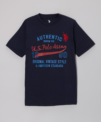 Navy 'U.S. Polo Assn.' Tee - Boys