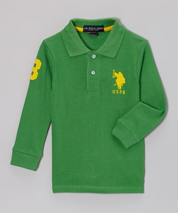 Green Polo - Toddler