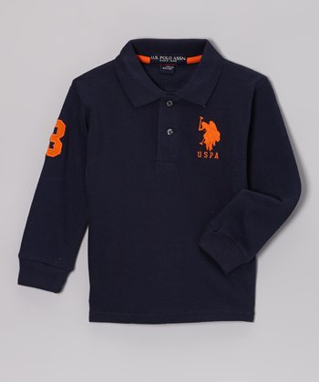 Navy Polo - Toddler