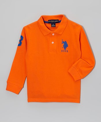 Orange Polo - Toddler