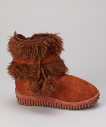 Brown Faux Fur Boot
