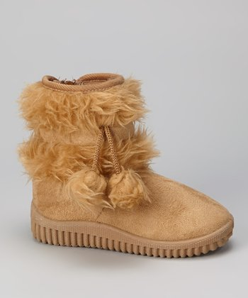 Beige Faux Fur Boot