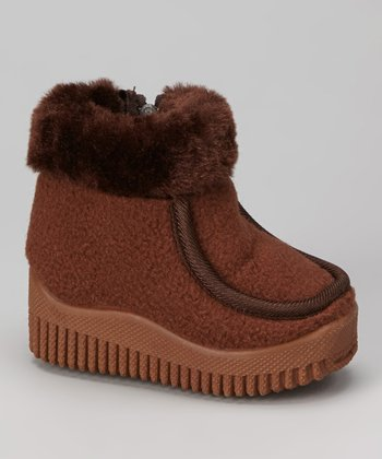 Brown Faux Fur Ankle Boot