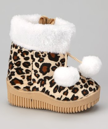 Coffee Animal Pom-Pom Boot