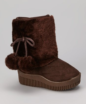 Coffee Faux Fur Shaft Boot