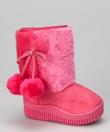 Fuchsia Faux Fur Shaft Boot