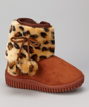 Coffee Leopard Shaft Boot