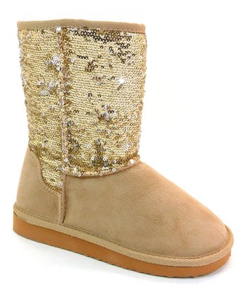 Gold Sequin Bling Boot