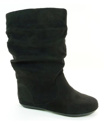 Black Faux Suede Haven Boot