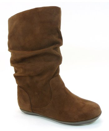 Brown Faux Suede Haven Boot