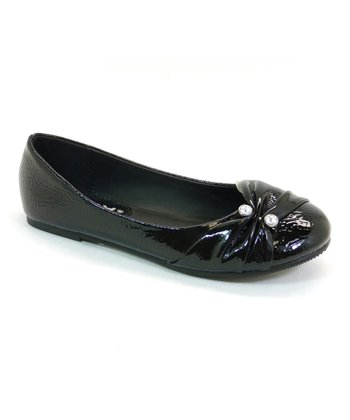 Black Patent Rest Flat