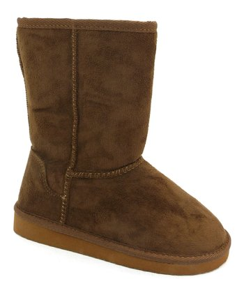 Brown Faux Fur Soong Boot