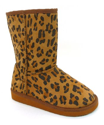 Tan Leopard Faux Fur Boot