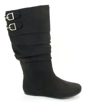 Black Faux Suede True Boot