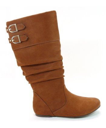 Brown Faux Suede True Boot