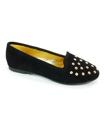 Black Studded Usage Flat