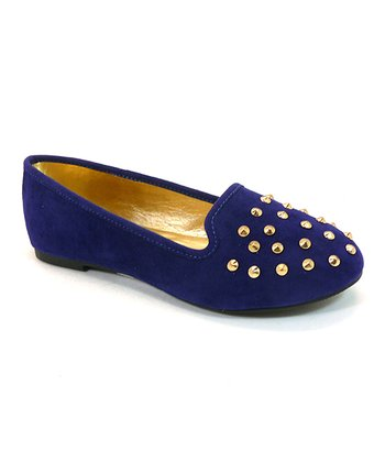 Navy Studded Usage Flat
