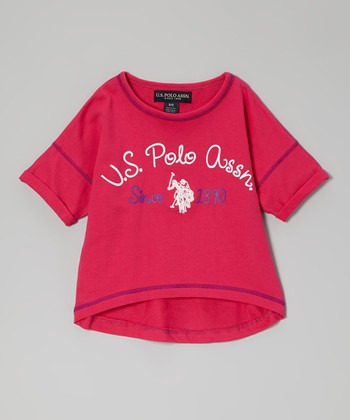 Pink 'U.S. Polo Assn.' Tee - Girls