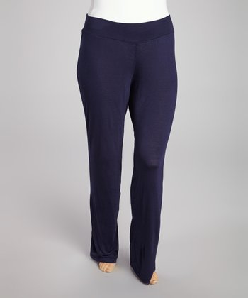 Navy Straight Leg Pants - Plus