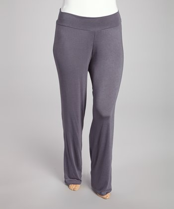 Gray Straight Leg Pants - Plus