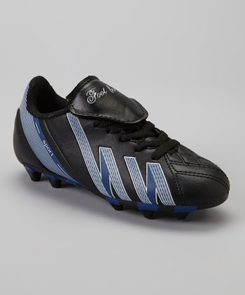 Black & Royal 'Foot Ball' Cleat