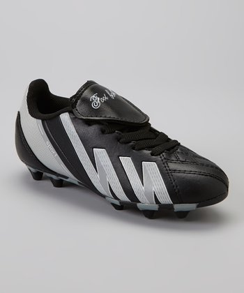 Black & White 'Foot Ball' Cleat