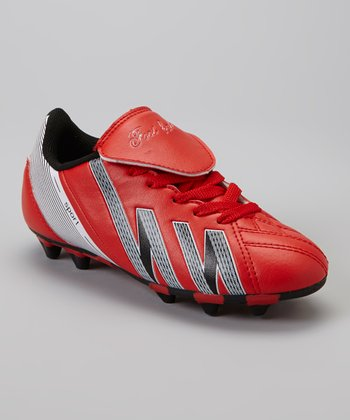 Red & Black 'Foot Ball' Cleat