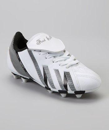 White & Black 'Foot Ball' Cleat