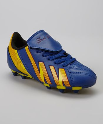 Royal & Yellow 'Foot Ball' Cleat