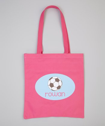 Hot Pink Soccer Personalized Tote