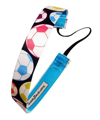 Blue & Pink Soccer Star Headband