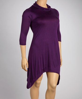 Purple Sidetail Dress - Plus