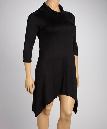 Black Sidetail Dress - Plus