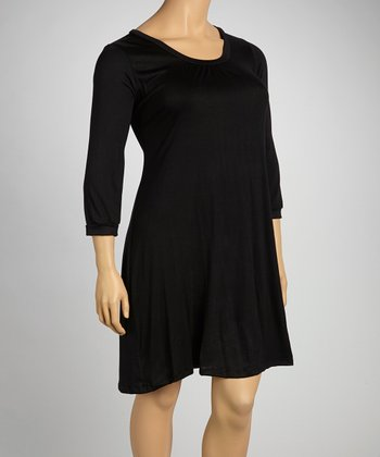 Black Shift Dress - Plus