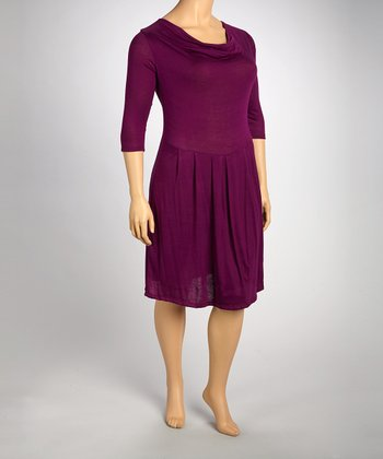 Purple Drape Dress - Plus