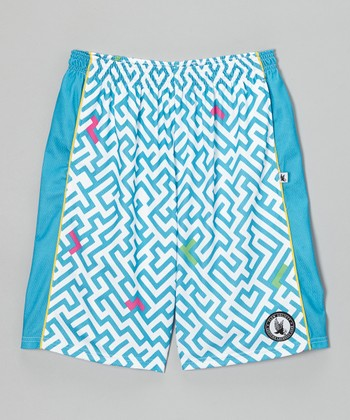 Blue Maze Shorts - Boys