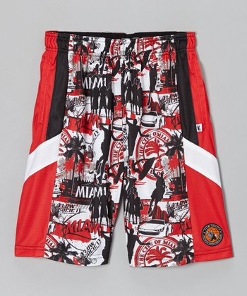 Red Miami Pro Shorts - Kids