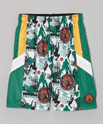 Green Boston Pro Shorts - Kids