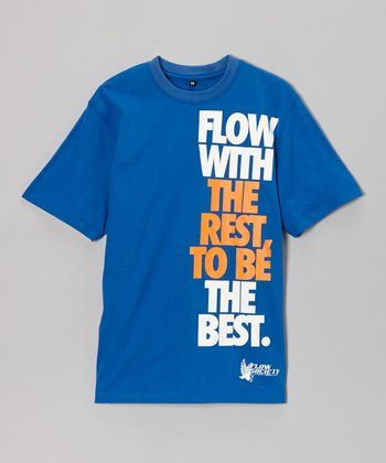 Royal 'Flow With The Rest to Be The Best' Tee - Kids