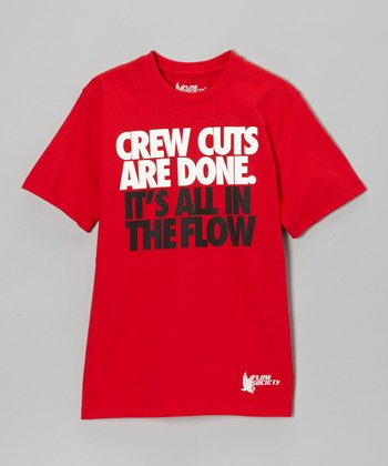 Red 'Crew Cuts Are Done' Tee - Boys