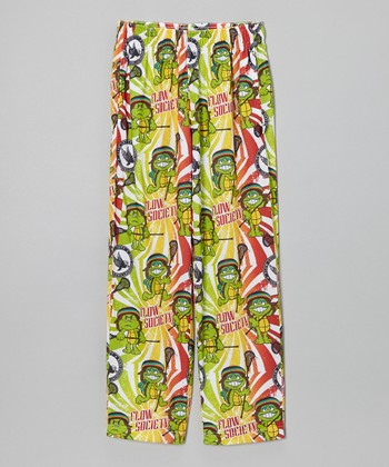 Green Turtle Flow Warm-Up Pants - Boys