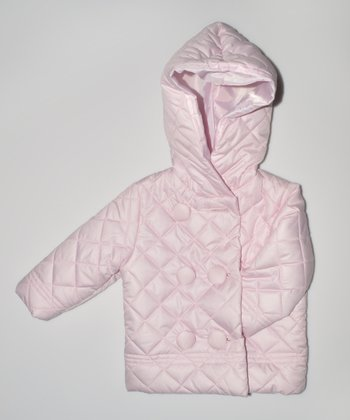 Pink Quilted Hooded Jacket - Infant & Toddler
