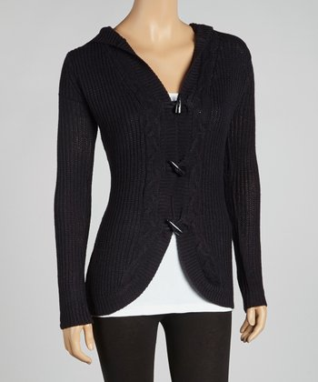 Black Night Hooded Cardigan