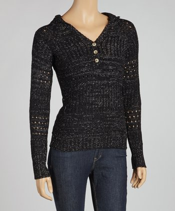 Black Pull-Over Hooded Sweater