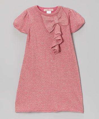 Pink Ruffle Cap Sleeve Dress - Toddler & Girls