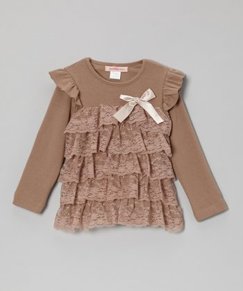 Latte Lace Tiered Top - Toddler & Girls