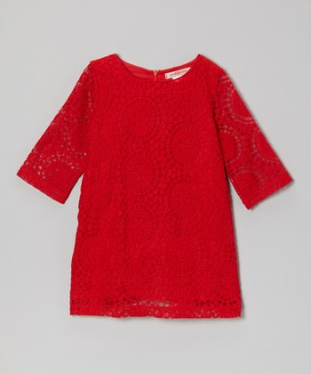 Red Lace Tunic - Toddler & Girls