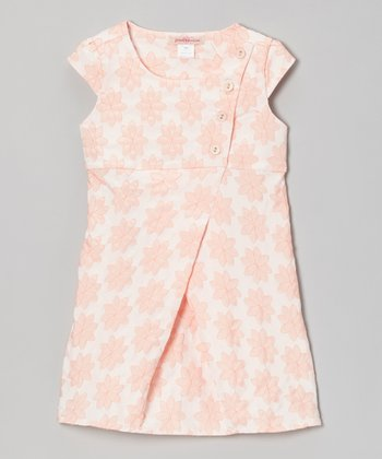 Pink Floral Button Wrap Dress - Toddler & Girls